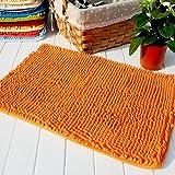 """Hughapy® Orange Non Slip Microfiber Carpet / Doormat / Floor mat / Bedroom / Kitchen Shaggy Area Rug Carpet (23.6""""x 15.7"""")"""