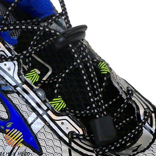 No Tie Elastic Shoelaces by Lemon Hero - Lots of Reflective Colors. Our Shoe Laces Fit Shoes and Boots. (Amazon Jordan Shoes compare prices)