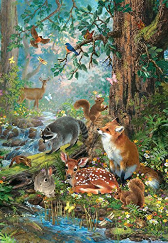 SunsOut Gathered in The Forest 100 Piece Jigsaw Puzzle
