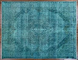 Antique Overdyed 10\'x12\' Hand Knotted Oriental Wool Area Rug W233