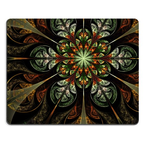Pattern Orange Green Flower Mouse Pads Customized Made To Order Support Ready 9 7/8 Inch (250Mm) X 7 7/8 Inch (200Mm) X 1/16 Inch (2Mm) High Quality Eco Friendly Cloth With Neoprene Rubber Liil Mouse Pad Desktop Mousepad Laptop Mousepads Comfortable Compu front-499125
