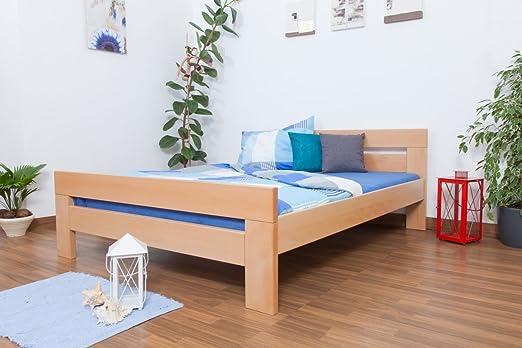 "Doppelbett ""Easy Sleep"" K6,160 x 200 cm Buche Vollholz massiv Natur"