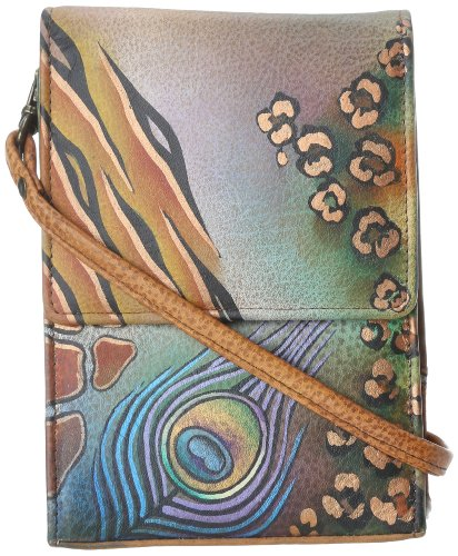 Anuschka 412 Cross Body,Peacock Safari,One Size