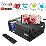 Video Projector Goxmgo LCD Portable Home Theater Projectors Support 1080P for iPad iPhone Android Smartphone Home Entertainment Party and Gaming System (Upgraded Version) (Color: C8)