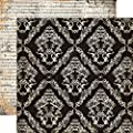 Echo Park Arsenic and Lace Large Damask Halloween Scrapbook Paper