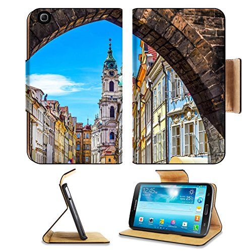 Samsung Galaxy Tab 3 8.0 Flip Case View of colorful old town in Prague taken from Charles bridge Czech Republic IMAGE 25523911 by MSD Customized Premium Deluxe Pu Leather generation Accessories HD Wi (Famous People Wi compare prices)