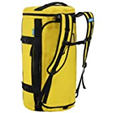 MIER Large Duffel Backpack Sports Gym Bag with Shoe Compartment, Heavy Duty and Water Resistant, Yellow, 60L (Color: Yellow, Tamaño: 60L)