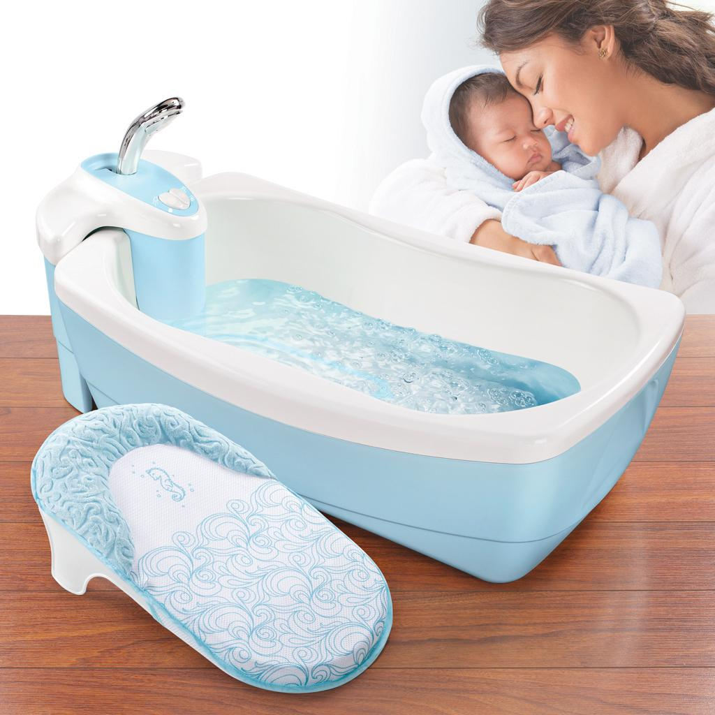 infant tub whirlpool blue bubbling spa and shower bath baby luxuries newborn new ebay. Black Bedroom Furniture Sets. Home Design Ideas