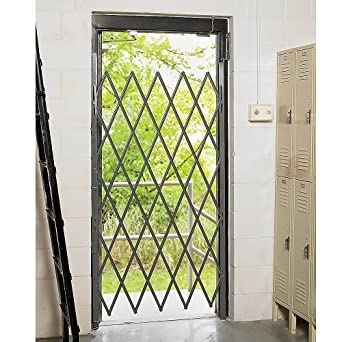 "Relius Solutions Single Gates For Narrow Doorway - 36""W Expanded - 74""H - Gray"