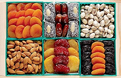 Broadway Basketeers Fruit and Nut Crate Gift Tray from Broadway Basketeers