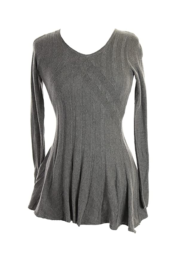 Studio M Heather Women's Fit And Flare V-Neck Sweater