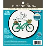 Dimensions Crafts Adult Learn a Craft Counted Cross Stitch, Enjoy The Ride