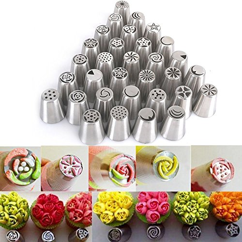 all-in-one-set-32-pieces-russian-icing-piping-nozzles-tips-reelva-russian-stainless-steel-cake-decor