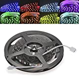 CroLED LED RGB Streifen Strips 5M 5050SMD Schwarz-PCB 300 LED