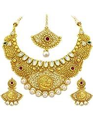 Sukkhi Luxurious Gold Plated Kundan Necklace Set For Women