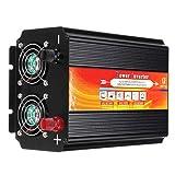 CMrtew Hot Sale 2200W Car Power Inverter 12/24V to 110/220V Sine Wave Converter with Blade Fuses (12V-220V) (Color: Black, Tamaño: 12V-220V)