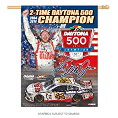 Dale Earnhardt Jr 2014 Daytona 500 2-Time Champion 27 x 37 Vertical Banner Flag by...