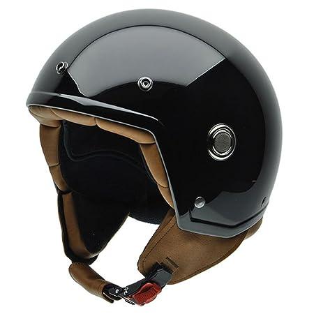 NZI 050271G445 Tonup Black, Casque de Moto, Taille L Noir