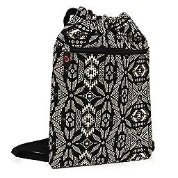 Google Nexus 9 Gym Sack bag for Tablets Under 11 inches | Black & White Tribal Pattern