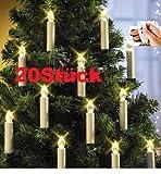 LED Weihnachtsbaumkerzen mit Fernbedienung, 20er Set - ohne nervigen Kabelsalat