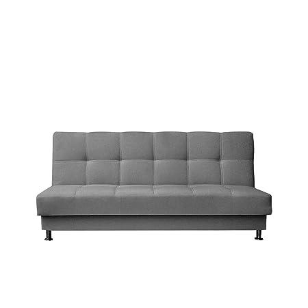 Schlafsofa Enduro III mit Bettkasten, 3 Sitzer Sofa, Couch mit Schlaffunktion und Bettfunktion, Bettsofa Schlafsofa Polstersofa Farbauswahl, Wohnlandschaft (Baku 04)
