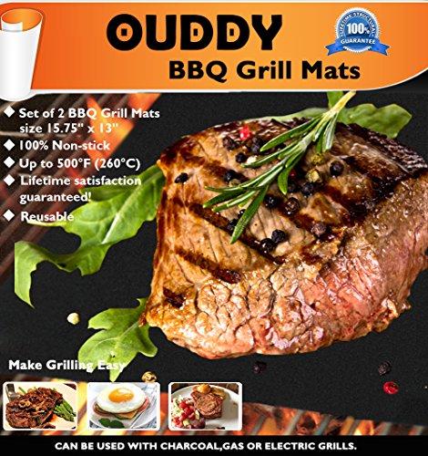 Fantastic Deal! 2 Pack Ouddy BBQ Grill Mat-Non Stick Grill Mats