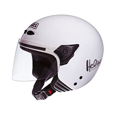 NZI 050137G001 Helix Junior White, Casque de Moto, Taille L Blanc