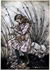 Window Cling Arthur Rackham Alice in Wonderland The Baby Pig