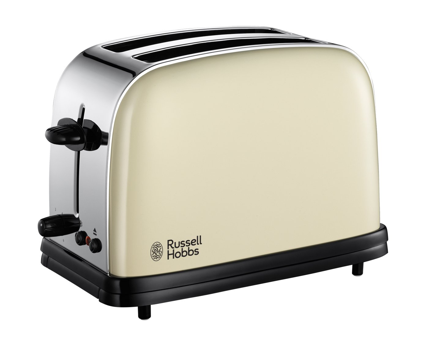 toaster russel hobbs deluxe metallic creme 2 scheiben toast 18953 grill ebay. Black Bedroom Furniture Sets. Home Design Ideas