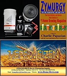 Strange Brewery 5 Gallon Home-Brew Starter Kit with Strange Brew Hefeweizen Ingredients, and 441 Page Zymurgy Book.