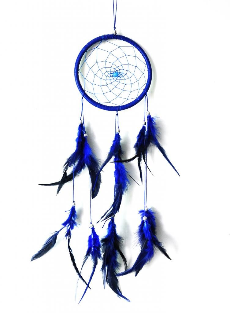 DreamCatcher ~ Blue DreamCatcher with Feathers ~ Approx 5.11 inch Diameter 18 inch Long mart poom minu lugu page 2