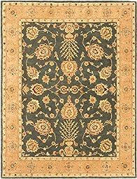eCarpetGallery Handmade Elegance 7-Feet 7-Inch by 9-Feet 10-Inch Wool Rug, Obscure Weak Cyan