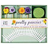 Meri Meri Cupcake Wrapper Kit Pretty Pansies