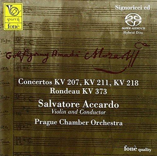 SACD : MOZART / ACCARDO - Concertos Kv 207 - Kv 211 - Kv 218