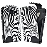 Accessory Master Leather Case for Samsung Galaxy Ace 2 i8160 Zebra Black / White