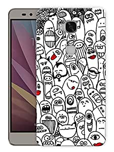"""Humor Gang Cute Fingers Printed Designer Mobile Back Cover For """"Huawei Honor 5X"""" (3D, Matte, Premium Quality Snap On Case)"""