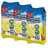 Feuchte Reinigungstücher Antibakteriell in Spenderverpackung 240 Stück - 3er Pack