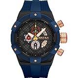 Brera Orologi Men's Supersportivo Blue, Black, Blue & RoseGold 48mm BRSSC4923F (Color: Blue, Black, Blue & RoseGold, Tamaño: Large)