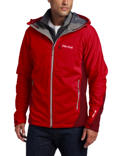 Marmot Men's Rom Softshell Jacket - Team Red/Brick, Small
