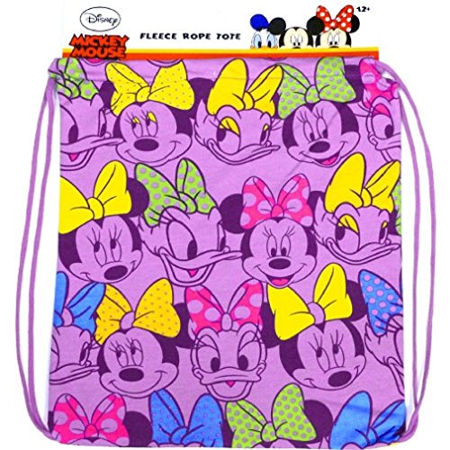 Disney Womens Minnie Mouse and Daisy Duck Purple Fleece Tote Bag
