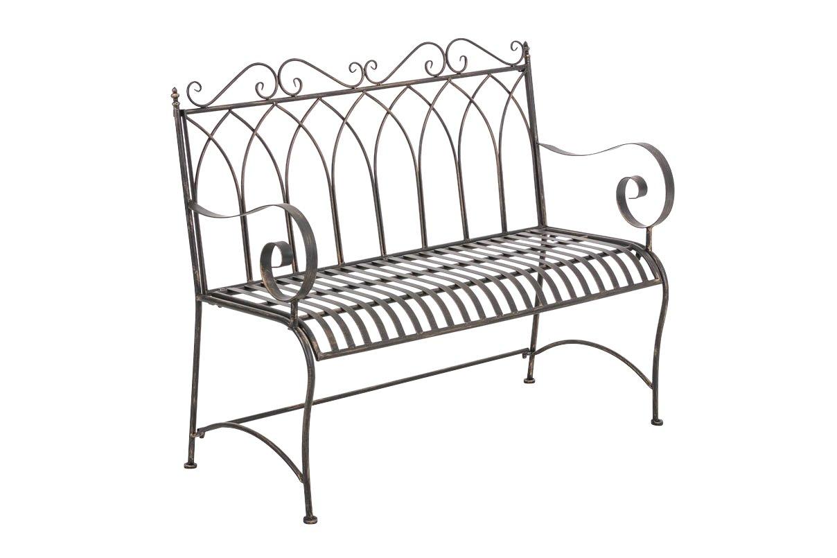 CLP Gartenbank DIVAN im Landhausstil, aus lackiertem Eisen, 106 x 51 cm – aus bis zu 6 Farben wählen bronze kaufen