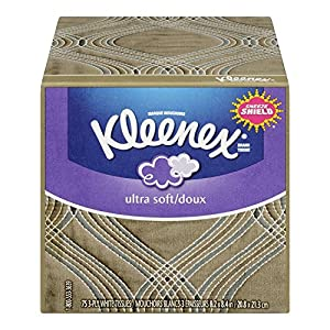 Kleenex Ultra Soft Tissues, White, Upright, 75 count (Pack of 27)