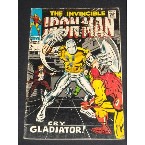 INVINCIBLE IRON MAN #7 VINTAGE SILVER AGE COMIC BOOK GLADIATOR APPEARANCE
