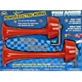 Wolo (200) Twin Power Red Plastic Trumpet Horns - 12 Volt, Low and High Tone