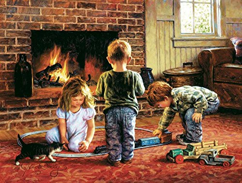 The Toy Train a 300-Piece Jigsaw Puzzle by Sunsout Inc.