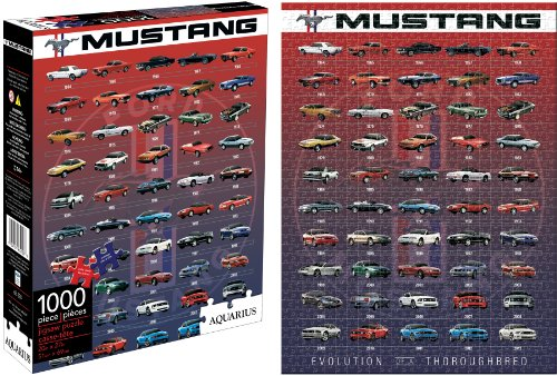 Ford Mustang Evolution Jigsaw Puzzle, 1000-Piece