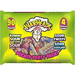 Warheads Pucker Party Pack 105 Pieces