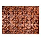 """Fasade Easy Installation Traditional 1 Moonstone Copper Backsplash Panel for Kitchen and Bathrooms (18"""" x 24"""" Panel)"""