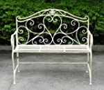 WHITE WROUGHT IRON SHABBY CHIC GARDEN...
