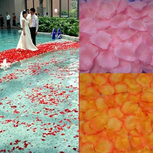 2013Newestseller 2000Pcs Pink Yellow Fabric Silk Rose Petals Wedding Party Confetti Artificial front-49508